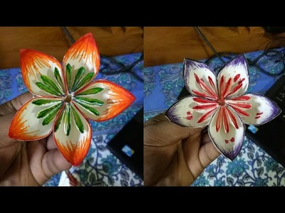 How to make a colorful paper flower (Unique) LifeStyle Designs