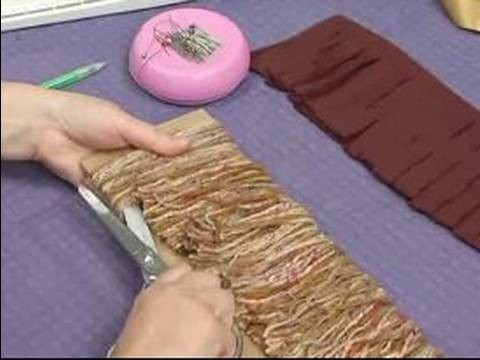 How to Make a Hobby Horse For Kids : How to Make Yarn Mane for Hobby Horse