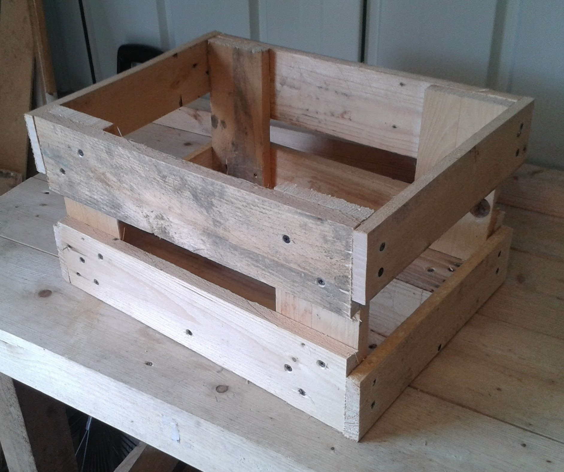 how to make a useful storage crate out of an old wood