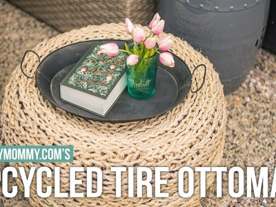 How to Make an Upcycled Tire Ottoman | Vlogust Day 17