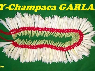 HOW TO MAKE CHAMPACA FLOWER GARLAND