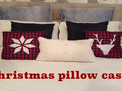 How to make Christmas pillow cases