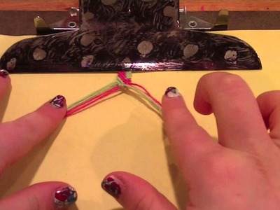How to make friendship bracelets: Alternating chevron