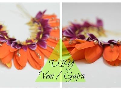 How to make: PoolaJada Daisy Veni.Poojadai Gajra. South Indian Bridal Hair Style at home