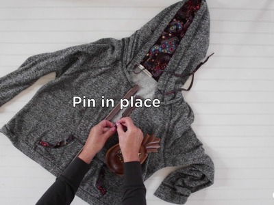 How to Put a Zipper in a Sweatshirt
