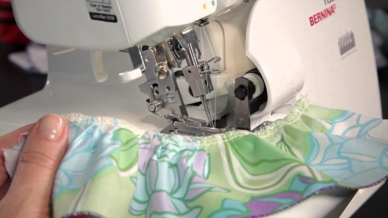 How to sew ruffles on an overlocker.serger