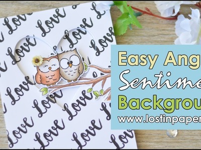 How to Stamp an Easy Angled Sentiment Background - Gerda Steiner Designs!