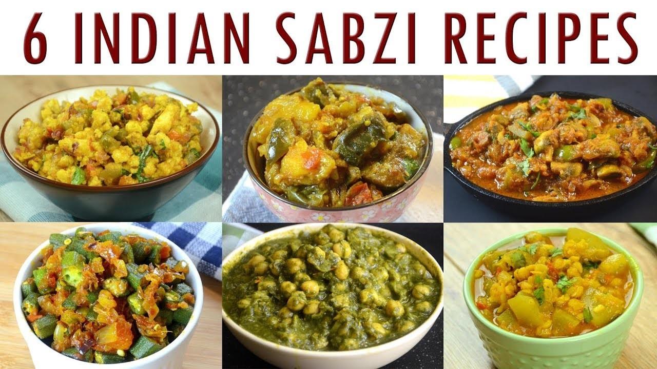 Indian Sabzi Recipes - Part 1   Indian Curry Recipes Compilation