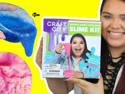 KARINA GARCIA'S DIY SLIME KIT! Slushee Slime, Crunchy Slime, Glow in The Dark & More!
