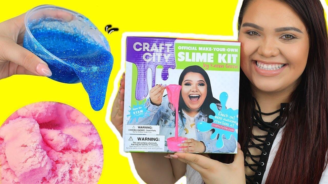 KARINA GARCIA'S DIY SLIME KIT! Slushee Slime, Crunchy Slime, Glow in The Dark & More!