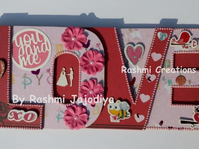 LOVE album for Husband. Chipboard words album | by Rashmi Jajodiya