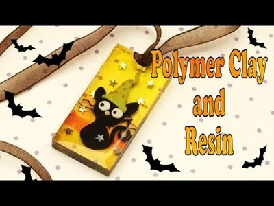 Magical cat- polymer clay and resin-tutorial- pendant