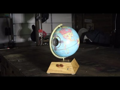 Make a Battery-Powered Leslie-style Speaker in a Globe