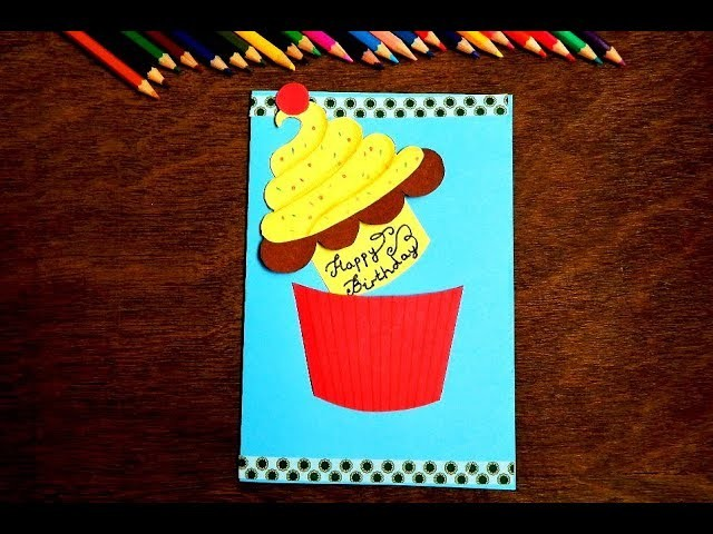 Make Birthday Greeting Card By Cut And Paste Paper Craft Activity