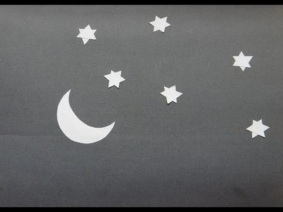 Make Moon and Stars By Cut And Paste Paper Craft Activity