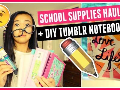 Mini School Supplies Haul 2016 + DIY Watercolor Notebook ★