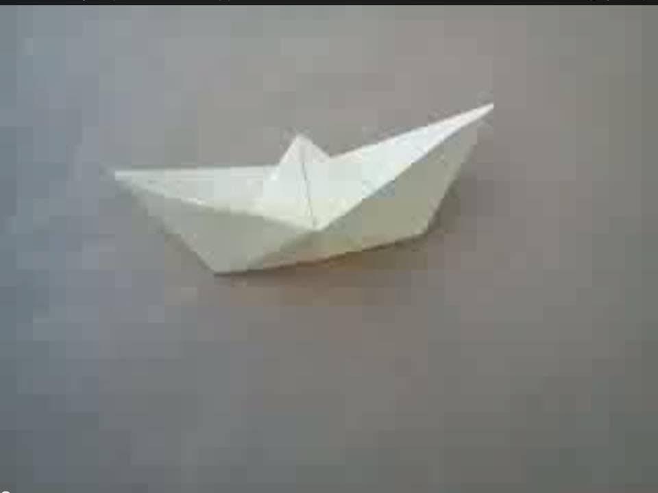 Origami Boat - Cómo hacer un Barco de Papel