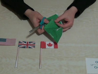 Paper flags. USA UK Canada. DIY. How to make