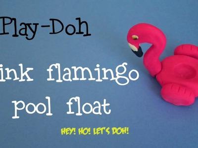 Pink Flamingo Pool Float - Play Doh Clay Art Tutorial