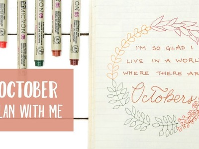 """Plan With Me: October 2017 Bullet Journal Set-Up 
