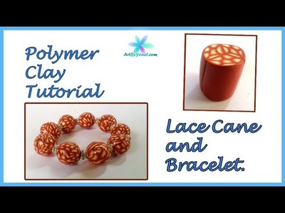 Polymer clay tutorial - Lace cane and a bracelet - Lesson # 51