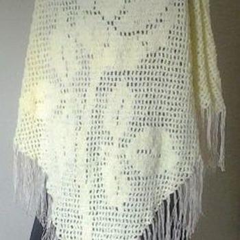 Rose Shawl Filet Crochet