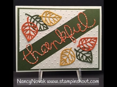 Stampin Up Thoughtful Branches Video Series 2 of 5 Thankful Card