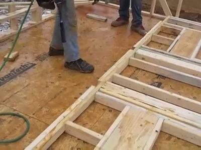 "Stick Framing 9' Walls with 7.16"" OSB Sheathing"