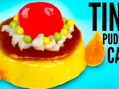 TINY PUDDING CAKE DIY | How To Make Mini Jello Popin Cookin!