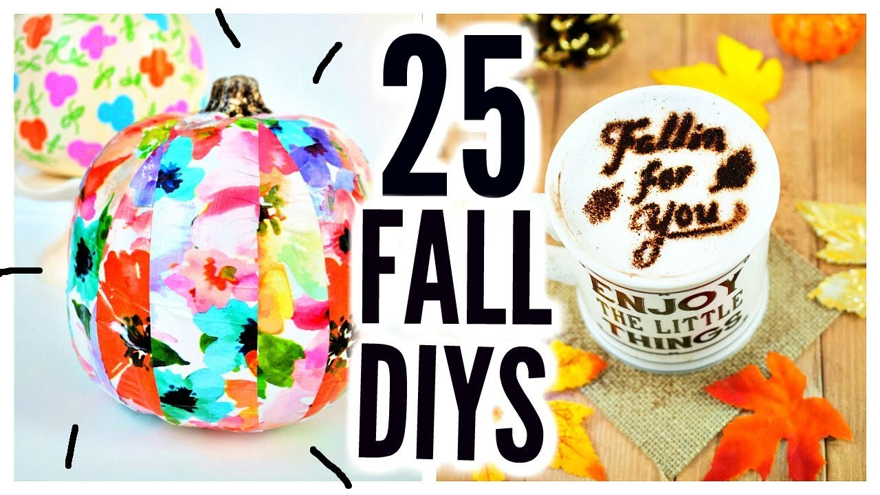 25 DIY Halloween & Fall Crafts! Room Decor, Party Ideas, Treats, Decorations