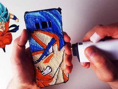 3D Pen Making A Goku Phone Case with 3DSimo Mini