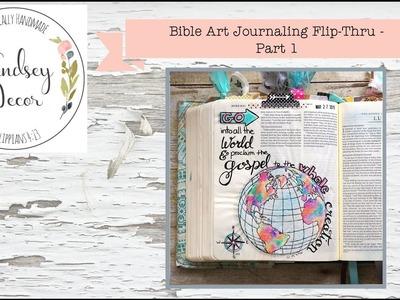 Bible Art Journaling Flip-Thru - Part 1