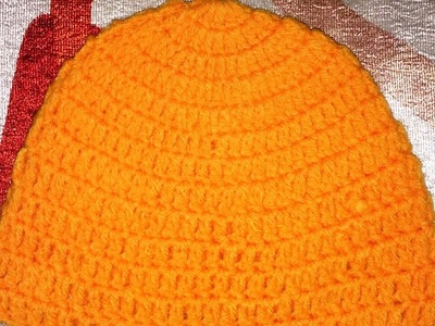 Crochet patterns.How to crochet a hat.topi for 0-3 months old baby.Indian art crochet