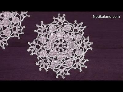 Crochet snowflake pattern  Crochet doily christmas Crochet snowflake ornaments