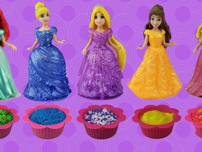 Disney Princess MAGIC MICROWAVE Baking Magiclip Glitter Glider Cupcakes LEARN COLORS