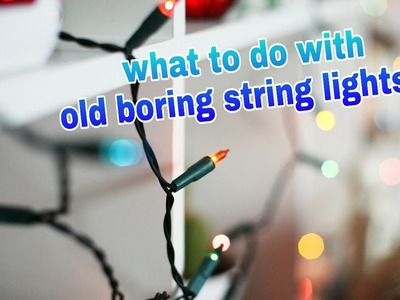 Diwali decoration ideas|New way to use old string lights #3 |Diwali light decoration ideas.
