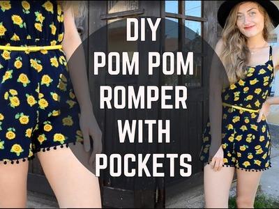 DIY Easy Romper with Pockets. DIY overal s vreckami (SK,EN sub)