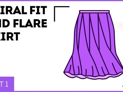 DIY: How to make a spiral fit-and-flare skirt, Part 1. Making a pattern for a spiral skirt.