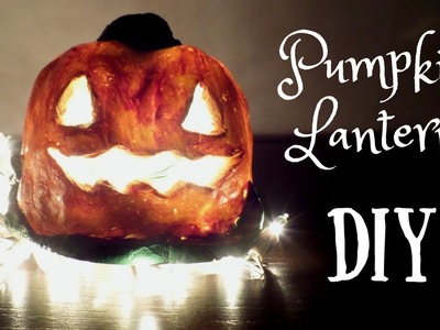 DIY Pumpkin Lantern with Homemade Clay | Easy Halloween Craft Idea for Kids | By Fluffy Hedgehog