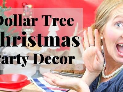 Dollar Tree Christmas Décor | Dollar Tree Christmas Party Decor Ideas