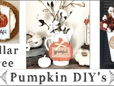 Dollar Tree Diy's Fall Pumpkin Decor Ideas