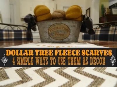 ????❄️????❄️ DOLLAR TREE SCARVES ????❄️????❄️4 SIMPLE WAYS TO USE THEM AS DECOR????❄️????❄️