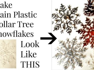 DOLLAR TREE Transform $1 Snowflakes DIY