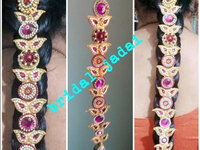 Easy making of gold look bridal jadai