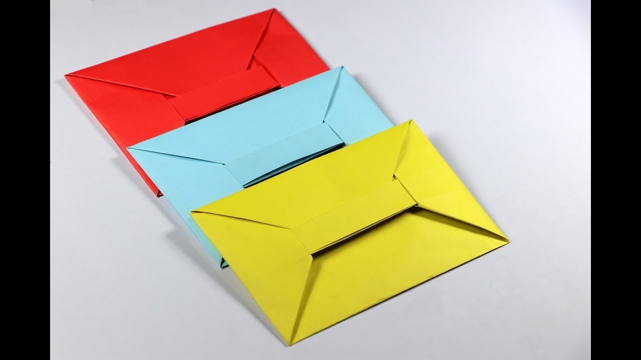 how to make easy origami heart envelope
