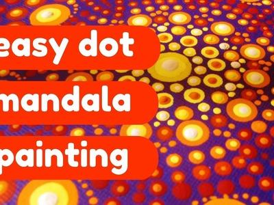 Fire Dot Mandala Painting - Timelapse Art Tutorial