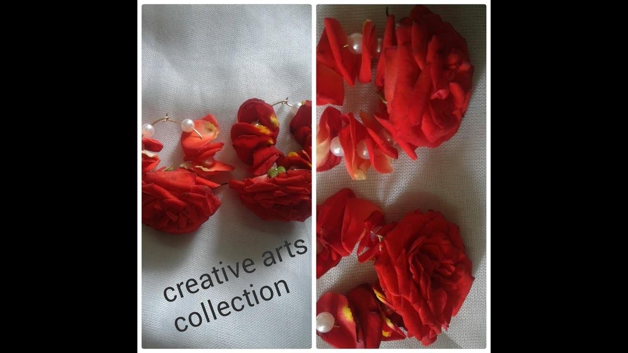 Fresh Flower Earrings For Brides (For Mehendi  & Haldi Ceremony