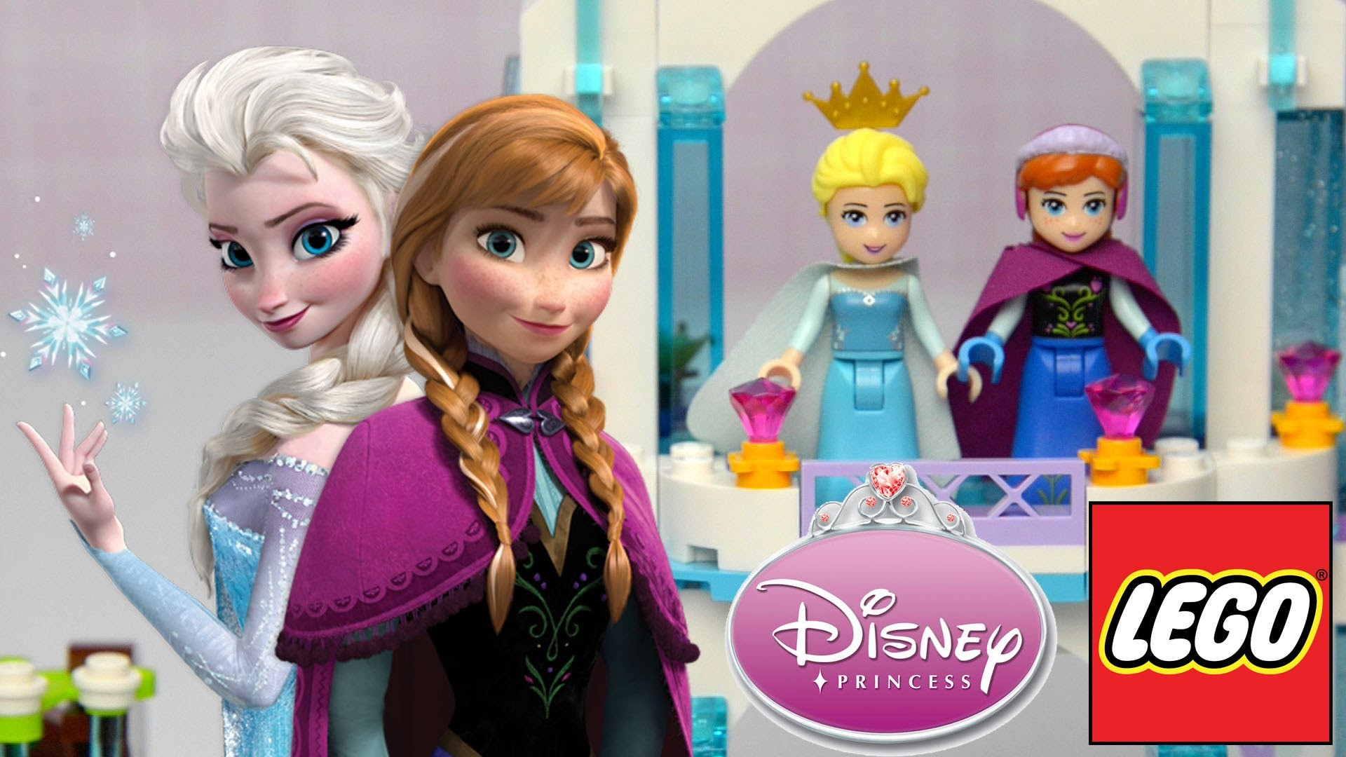 Frozen LEGO Disney Princess Elsa's Sparkling Ice Castle 41062 2015 Build Review - Kids Toys