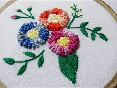 Hand Embroidery Design of Cast On Stitch