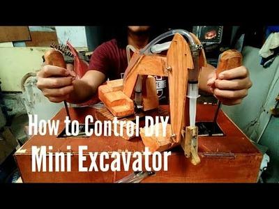 How DIY Mini excavator control (Cara kendali & cara kerja remote kontrol mini excavator)